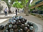 Famous French boules  game (Pétanque) can be seen just by the St Paul's walls - 7 mins walk