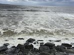 Lahinch beach, popular for surfer and swimmers. Enjoy a walk on the promenade (30 min).