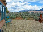 Xeriscaped backyard looking north offers quiet solitude, panoramic mountain views all surrounded by lush high desert...