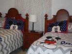 Twin Beds in Disney Bedroom