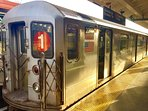 The NYC Subway No.1 train is minutes from Manhattan and connects to all boroughs and sites