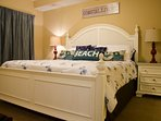 Master Bdrm; KING; en suite bath and walk-in closet; TV/Cable/WiFi/DVD