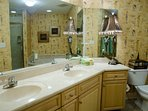 Full en suite bath for Master Bdrm--Jacuzzi and separate marble shower; double sink; walk-in closet
