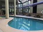 Heated Indoor Pool and Hot Tubs; located on 1st floor, just off Lobby
