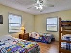 2nd bedroom - 4 twin beds, 1st level