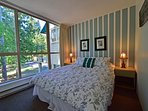 Comfortable Queen Size Master Bedroom with Garden views on 3rd Floor.