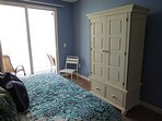 Armoire with flat screen TV, free cable and drawers for clothing, etc.