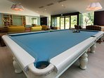 Pool table at the spa