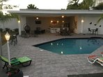 4000 sq foot pool are with a second level balcony to watch sunrise and sunsets