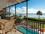 Screened Balcony View of Intracoastal Waterway