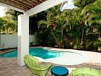 Backyard with Heated Pool