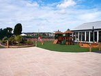 play area on park. Tennis & Multi Use Courts, Putting Green, Petanque Piste available.
