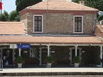 Selcuk train station, 8 minute walk from Garden House