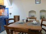 Full Equipped Living rooom / Kitchinette -Casa Simone Eolo in Lipari