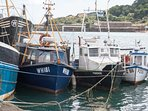 Fishing boats at nearby Newlyn