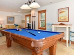 Game room with pool table, TV, audio system