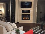 Fireplace built in for winter warmth and summer ambiance!