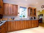 Kitchen with adjoining breakfast/sun room