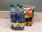 Snacks and bottled water for your arrival.