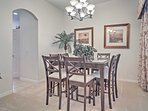 Enjoy special family dinners around the dining room table.