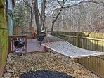 The spacious deck offers a great space to relax in the outdoors.