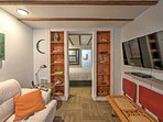 The cozy cottage boasts 350 square feet of comfortable living space.
