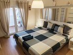 The bedroom can be set as a double bad or 2 twin beds.