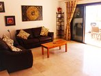 Very comfortable living area with HD TV