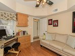 3rd bedroom/den with sleeper sofa - perfect for additional guests or those who just can't leave the office behind!