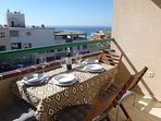 Terrace ideal to enjoy a pleasant meal in family, couple, or with friends, incredible views