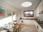 Kitchen: Washing machine, dish washer, Micro wave, Stove, Owen, Fridge, Mixer grinder, Kettle, toast