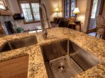 Kitchen - Kitchen features granite countertops and stainless steel appliances.