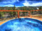 Frostfire Hot Tub - Enjoy the outdoor hot tubs and spectacular mountain views.