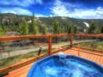 Frostfire Hot Tub   - Watch the bicyclists cruise by on the Keystone Bike Path from the outdoor hot tubs.