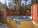 Hot Tub - Trappers Crossing has a shared outdoor hot tub with dressing rooms for relaxing apres-ski.