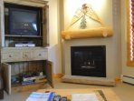 Fireplace and games - The instant-on gas fireplace will take the chill off after a day outside while enjoying the TV or...