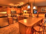 SkyRun Property - '204 Snowdance Manor' - Kitchen - The newly remodeled kitchen is perfect for cooking all of your...