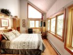 Master Bedroom - Lovely master bedroom with the same ceiling high windows as the living room.