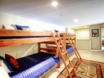 Loft Bunk room - The loft area with two sets of bunk beds is perfect for kids.