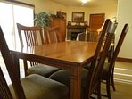 Dining - The dining area comfortably seats 6 for dinner or after-dinner family games.