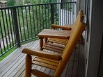 Deck - Relax and enjoy your morning coffee on these great Adirondack chairs on your private deck overlooking the river.