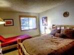 2nd Bedroom - The 2nd bedroom has a hand-built aspen bed and a separate twin bed.