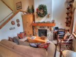 SkyRun Property - '1841 Seasons Townhomes' - Living Room - Beautifully decorated with a cozy mountain decor, this...