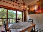 Dining Area & Private Deck - Spacious Dining area that seats 6. Enjoy your coffee or lunch on the large outdoor deck...