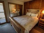 Master Bedroom - Queen size bed, perfect for when you need to get some sleep before a Colorado powder day.