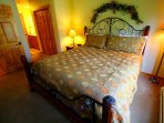 Master Suite - The master bedroom has a king bed, LCD tv, and an ensuite bath.