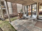 Private Patio - Great ground level patio, only steps to the Peru Express high speed quad!