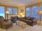 SkyRun Property - '8782 Trappers Crossing' - Living Room - Relax after a long day in the spacious living room in front...