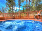 Trapper's Crossing Hot Tub - Relax in the outdoor hot tub under the towering pine trees, exclusively for Trapper's...