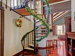 Spiral Staircase to Crow's Nest